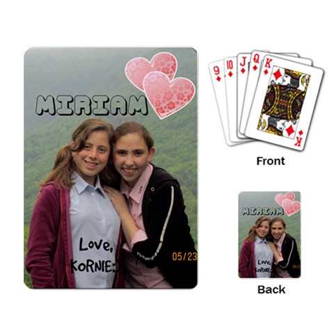 Miriam Schreiber Bday Cards By Kornie   Playing Cards Single Design   7m1en2khwv6t   Www Artscow Com Back