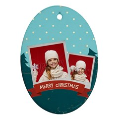 Merry Christmas By Xmas   Oval Ornament (two Sides)   Oujafm86pk4v   Www Artscow Com Back