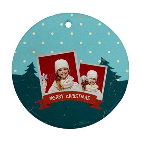 Merry Christmas By Xmas   Ornament (round)   18rz5gbrnn0e   Www Artscow Com Front