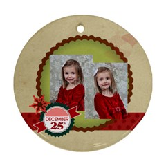 Merry Christmas By Xmas   Round Ornament (two Sides)   5xex45g6exda   Www Artscow Com Front
