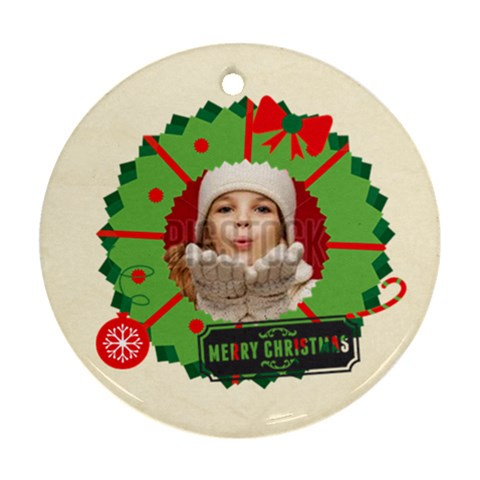Merry Christmas By Xmas   Ornament (round)   3jzljca1c651   Www Artscow Com Front