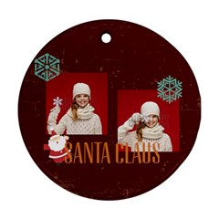 Merry Christmas By Xmas   Round Ornament (two Sides)   Ilif21dlwoxe   Www Artscow Com Back