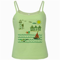 Summer Holiday Green Spaghetti Tank by whitemagnolia