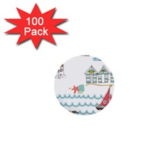 Summer Holiday 1  Mini Button (100 Pack)