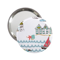 Summer Holiday Handbag Mirror (2 25 ) by whitemagnolia
