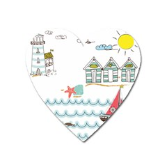 Summer Holiday Magnet (heart) by whitemagnolia