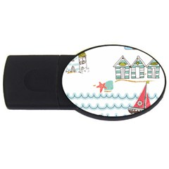 Summer Holiday 2gb Usb Flash Drive (oval) by whitemagnolia
