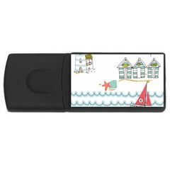 Summer Holiday 4GB USB Flash Drive (Rectangle) by whitemagnolia