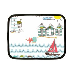 Summer Holiday Netbook Sleeve (small) by whitemagnolia
