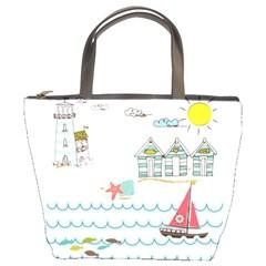 Summer Holiday Bucket Handbag by whitemagnolia