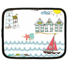 Summer Holiday Netbook Sleeve (xxl) by whitemagnolia
