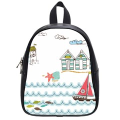 Summer Holiday School Bag (small) by whitemagnolia