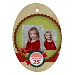 merry christmas - Oval Ornament (Two Sides)