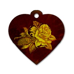 Rose Dog Tag Heart (Two Sided)