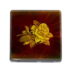 Rose Memory Card Reader With Storage (square) by ankasdesigns