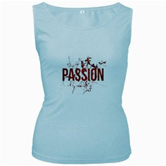 Passion And Lust Grunge Design Women s Tank Top (baby Blue) by dflcprints