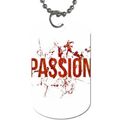 Passion And Lust Grunge Design Dog Tag (one Sided) by dflcprints