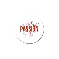 Passion And Lust Grunge Design Golf Ball Marker by dflcprints