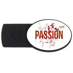 Passion And Lust Grunge Design 2gb Usb Flash Drive (oval) by dflcprints