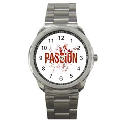 Passion And Lust Grunge Design Sport Metal Watch by dflcprints
