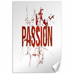 Passion And Lust Grunge Design Canvas 12  X 18  (unframed) by dflcprints