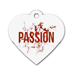 Passion And Lust Grunge Design Dog Tag Heart (two Sided) by dflcprints