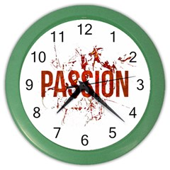 Passion And Lust Grunge Design Wall Clock (color) by dflcprints