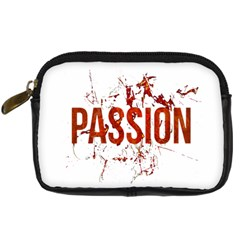 Passion And Lust Grunge Design Digital Camera Leather Case by dflcprints