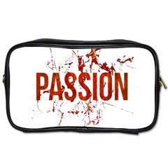 Passion And Lust Grunge Design Travel Toiletry Bag (one Side) by dflcprints