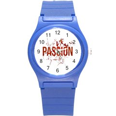 Passion And Lust Grunge Design Plastic Sport Watch (small) by dflcprints