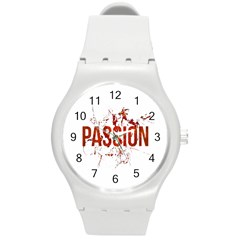 Passion And Lust Grunge Design Plastic Sport Watch (medium) by dflcprints