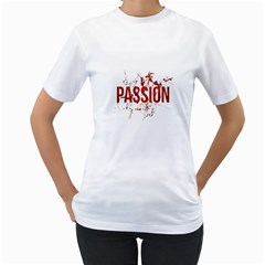 Passion And Lust Grunge Design Women s T Shirt (white)  by dflcprints