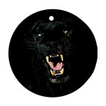 Black Leopard / Panther Ornament (Round)
