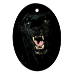 Black Leopard / Panther Ornament (Oval)