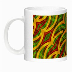 Tropical Colors Abstract Geometric Print Glow In The Dark Mug by dflcprints