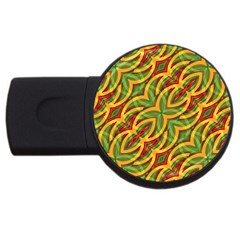 Tropical Colors Abstract Geometric Print 4gb Usb Flash Drive (round) by dflcprints