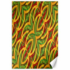 Tropical Colors Abstract Geometric Print Canvas 12  X 18  (unframed) by dflcprints