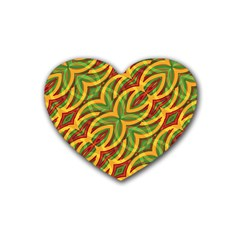 Tropical Colors Abstract Geometric Print Drink Coasters (heart) by dflcprints