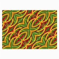 Tropical Colors Abstract Geometric Print Glasses Cloth (large, Two Sided) by dflcprints