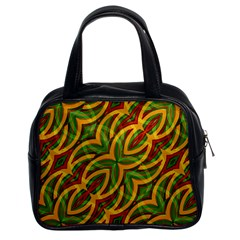 Tropical Colors Abstract Geometric Print Classic Handbag (two Sides) by dflcprints