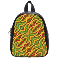 Tropical Colors Abstract Geometric Print School Bag (small) by dflcprints