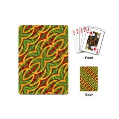 Tropical Colors Abstract Geometric Print Playing Cards (mini) by dflcprints