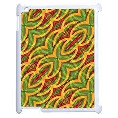 Tropical Colors Abstract Geometric Print Apple Ipad 2 Case (white) by dflcprints