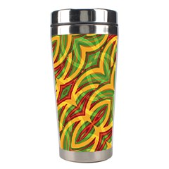 Tropical Colors Abstract Geometric Print Stainless Steel Travel Tumbler by dflcprints