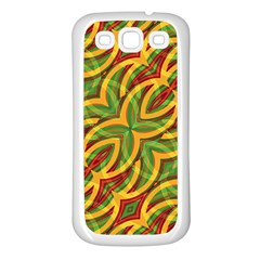 Tropical Colors Abstract Geometric Print Samsung Galaxy S3 Back Case (white) by dflcprints