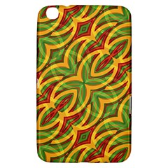 Tropical Colors Abstract Geometric Print Samsung Galaxy Tab 3 (8 ) T3100 Hardshell Case  by dflcprints
