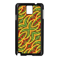 Tropical Colors Abstract Geometric Print Samsung Galaxy Note 3 N9005 Case (black) by dflcprints