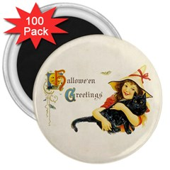 Hallowe en Greetings 3  Button Magnet (100 pack) by EndlessVintage