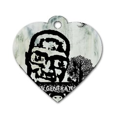 m.g firetested Dog Tag Heart (Two Sided) by holyhiphopglobalshop1