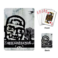 M G Firetested Playing Cards Single Design by holyhiphopglobalshop1